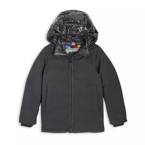 Herno Boys' Hooded Woven Down Jacket  (Size 10)